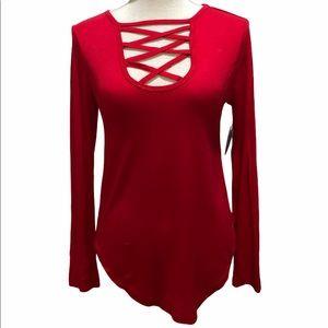 NEW Red Splash Top Size Med